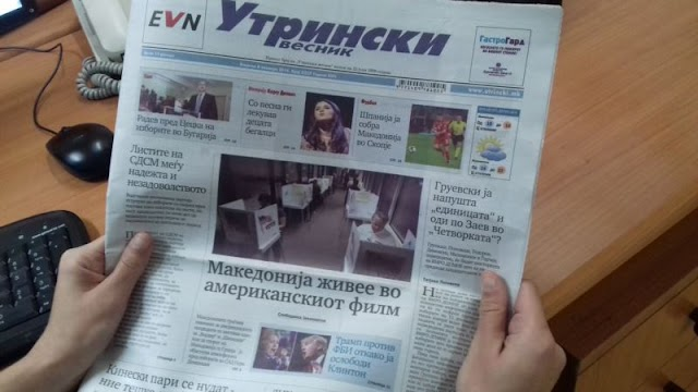 Utrinski Vesnik verkündet aus