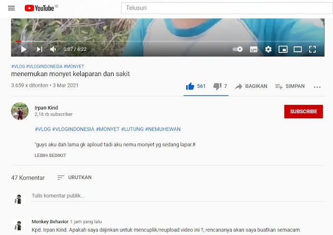 Ijin Copyright/Pemakaian Ulang Video @IrpanKind