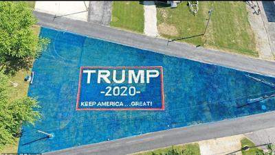 20200714 151132 - Air Drive veteran paints his total yard with big Trump 2020 banner