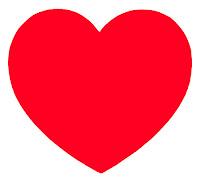Kırmızı ve basit bir kalp çizimi