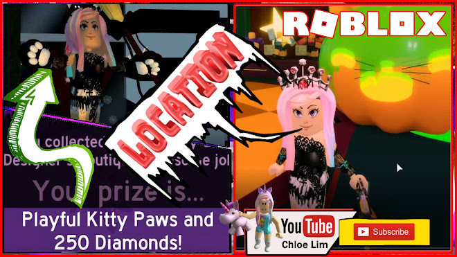 Roblox Royale High Halloween Event Gameplay! Superiore Clothing Hub! Playful Kitty Paws! All Candy Location!