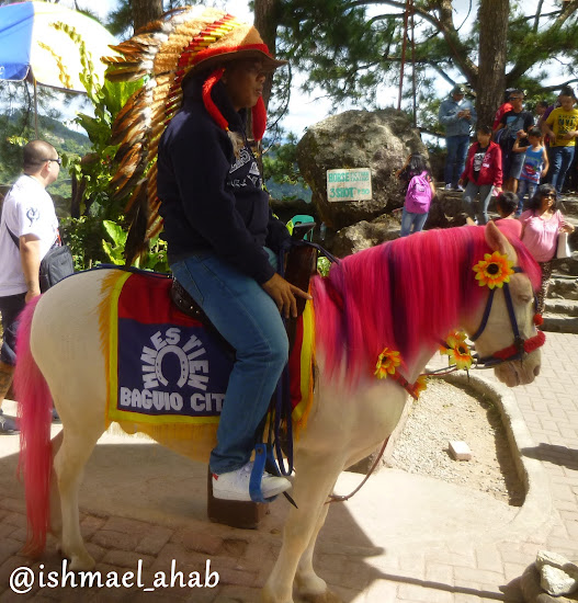 Igorot and selfie horse in Mines View Park of Baguio City