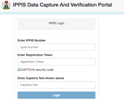 IPPIS Registration Portal, Login (Verification, enrollment, 2019 User guide)