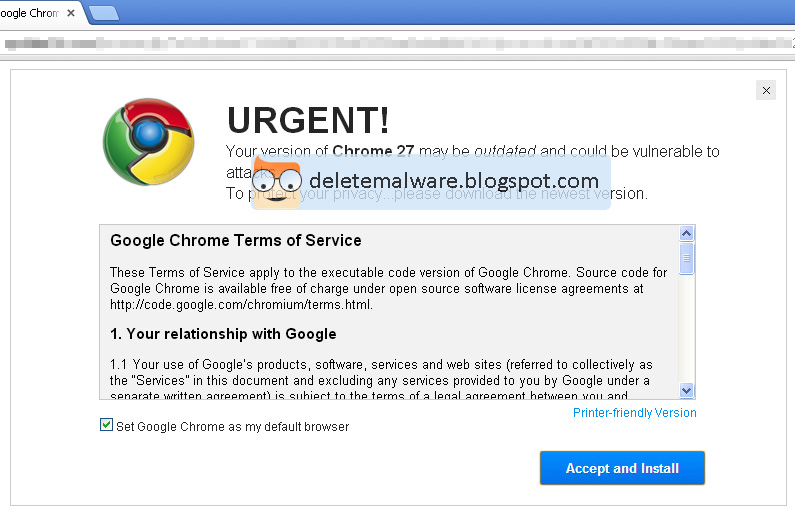 Chrome adware infects your browser to serve untrustworthy sponsored content