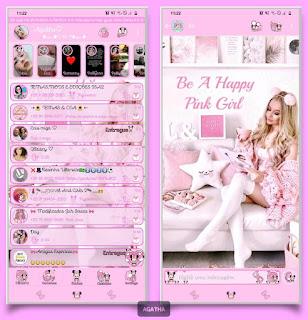 Model Girl Theme For YOWhatsApp & KM WhatsApp By Agatha