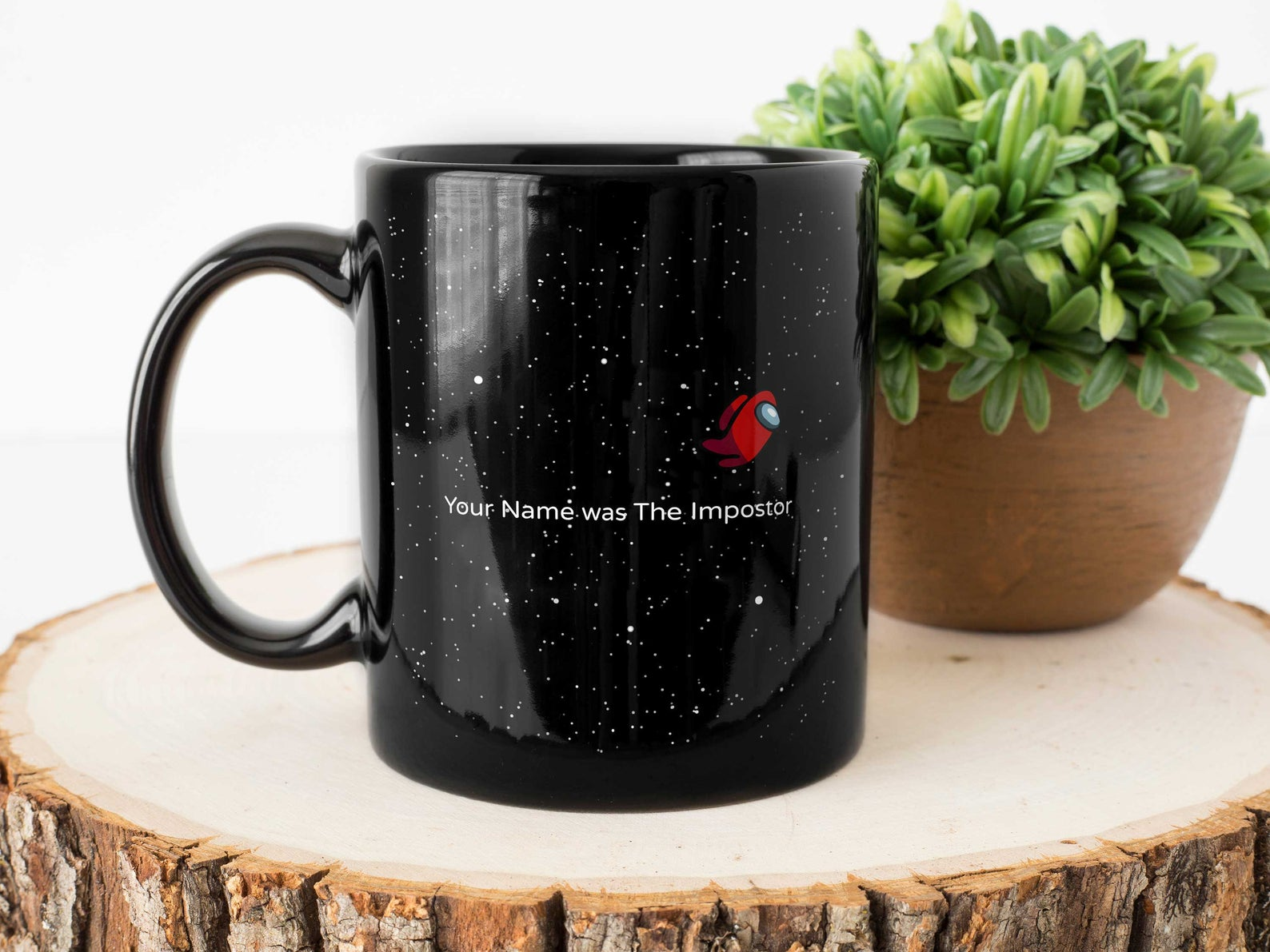 Personalized Among Us Imposter Coffee Mug 'Your Name' Was The Imposter