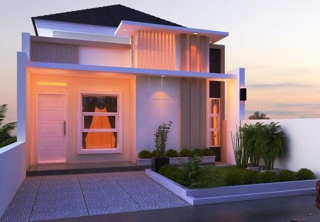 Model Rumah Minimalis Modern Tampak Depan