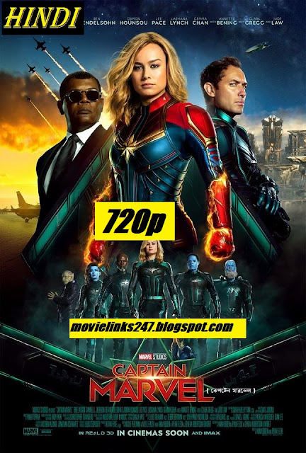 Captain Marvel 2019 Hindi dubbed Full Movie Download