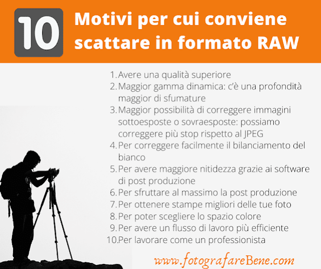 10 motivi per scattare in formato raw