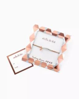 Stella & Dot Wishing Bracelet - Silver/Rose Gold, Breast Cancer Awareness Boutique