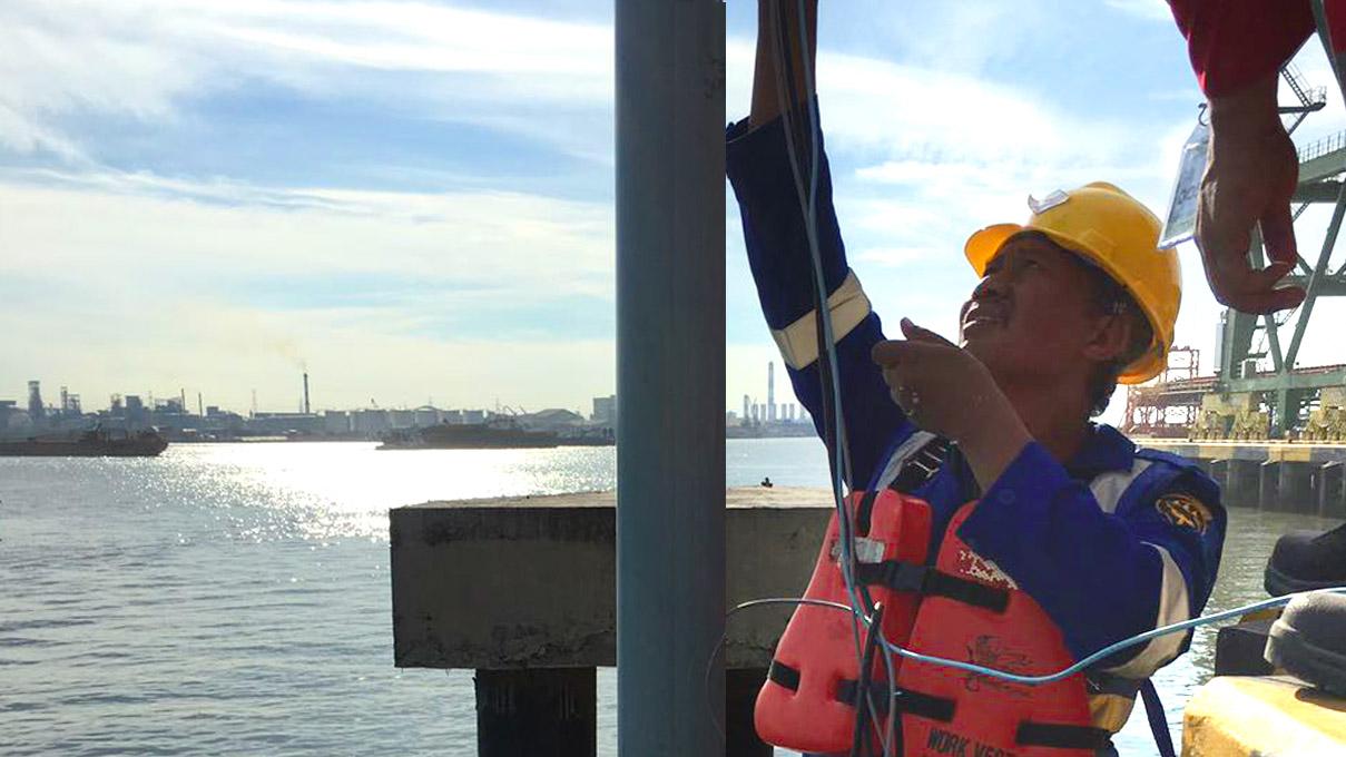 Instalasi Luwes Water Sensor di Pelabuhan Larantuka, NTT