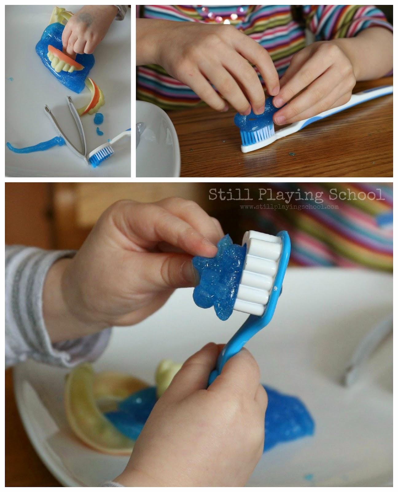 Slime With Toothpaste : slime, toothpaste, Toothpaste, Slime, Dental, Health, Month, Still, Playing, School