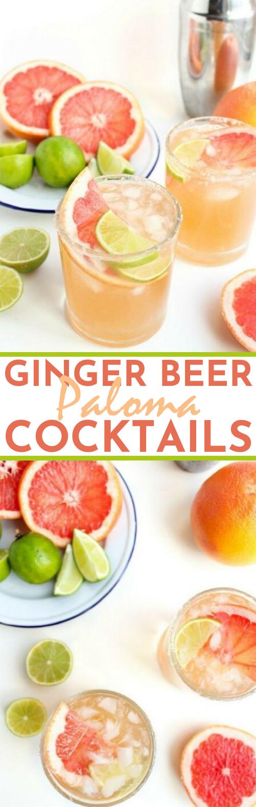 Ginger Beer Paloma Cocktails #drinks #cocktails #refreshing #summer #beer