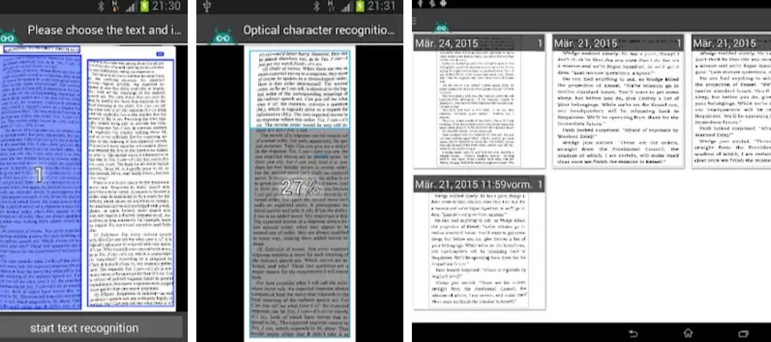 Преобразование картинки в текст андроид