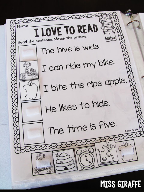 Long i sentences practice with picture support - love these for building reading fluency and confidence!