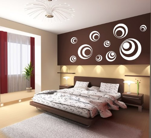 wandgestaltung schlafzimmer ornamente | minimalistische haus design - Wandgestaltung Schlafzimmer