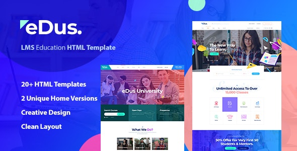 Beautiful Online Courses & Education HTML Template