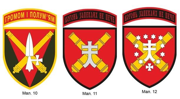 нарукавна емблематика з'єднань і військових частин ракетних військ і артилерії