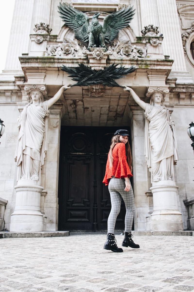 street style blog mode tendance prince de galle dentelle rouge opéra garnier