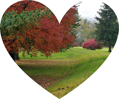 Octagon State Memorial in October in a heart shaped image. Image Courtesy of Tim Black.