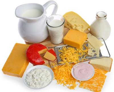 Algunos tipos productos lácteos
