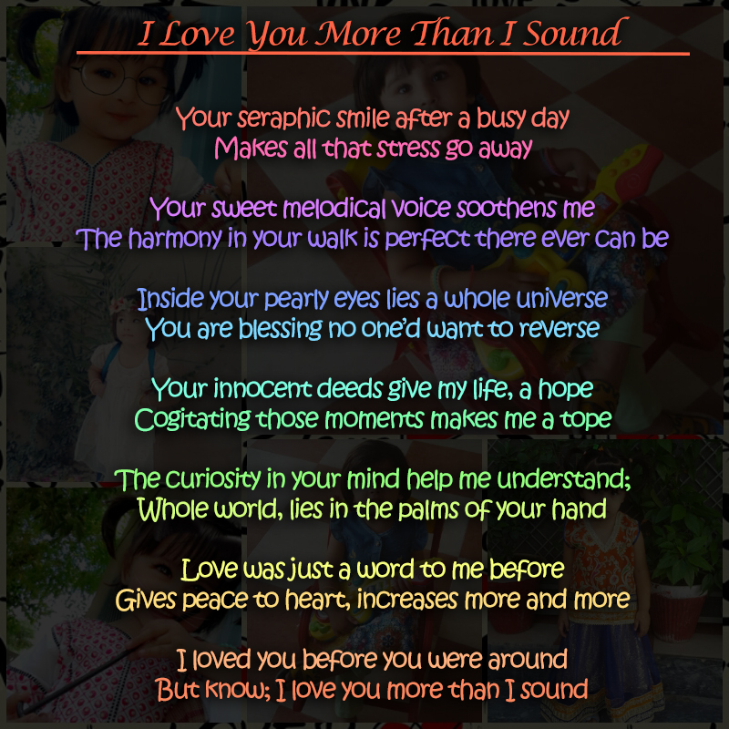 I LOVE YOU MORE THAN I SOUND | A poem for Daughters/Nieces | HNQuotes