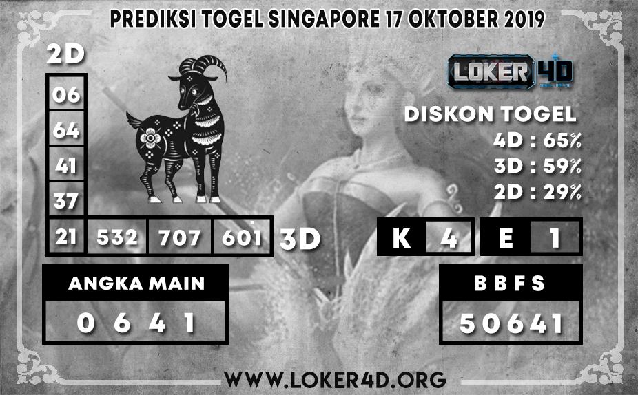 PREDIKSI TOGEL SINGAPORE LOKER4D 17 OKTOBER 2019