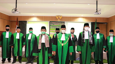 Wisdua Purnabakti Hakim Tinggi Pengadilan Tinggi Agama Palembang serta perpisahan Panitera Muda Hukum dan Panitera Pengganti Pengadilan Tinggi Agama Palembang