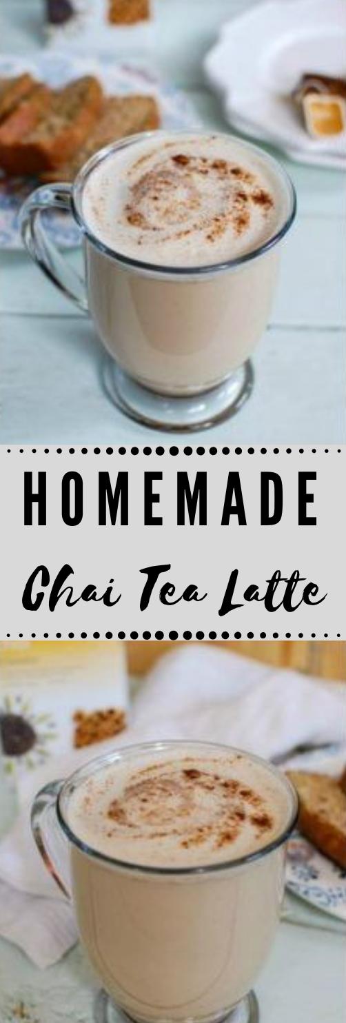 HOMEMADE CHAI TEA LATTE #chai #tea #homemade #drink #latte