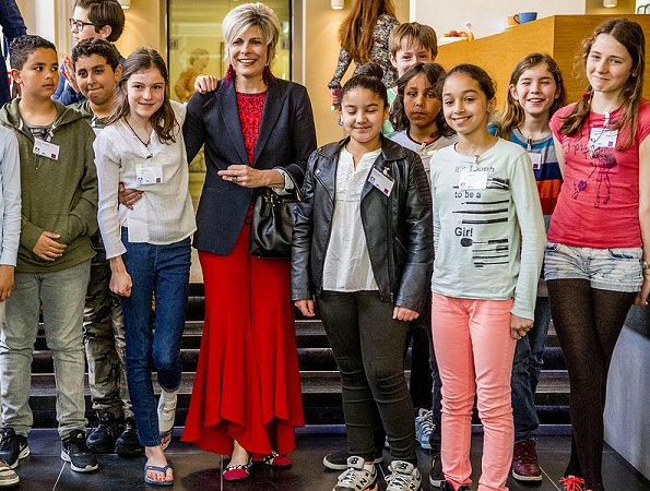 Dutch Princess Laurentien, of the Missing Chapter Foundation, attends the launch of the pilot municipalities Leiden, The Hague, Deventer, Groningen and Breda to appoint a Board of Children