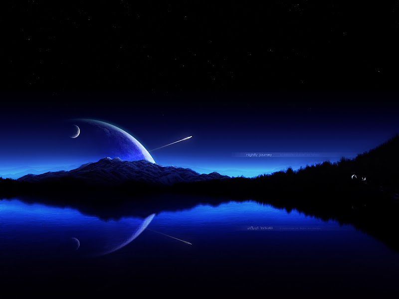 Abstract Night Moon Hd Wallpapers title=