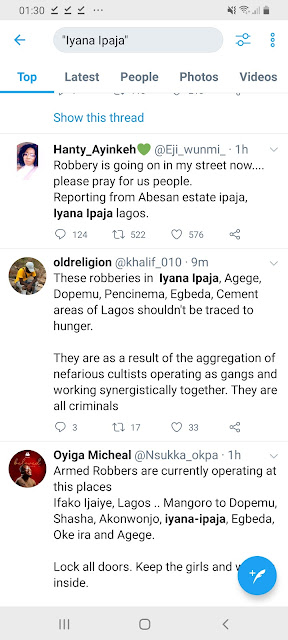 Lagos unrest with robberies in agege iyana ipaja aboru gowon estate