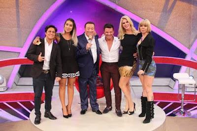 Thammy, Dani, Raul, Eduardo Costa, Val e Penélope no Elas Querem Saber (Foto: Rodrigo Belentani/SBT)