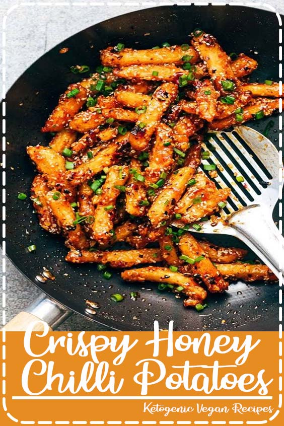 Crispy Honey Chilli Potatoes are a super addictive snack  Crispy Honey Chilli Potatoes