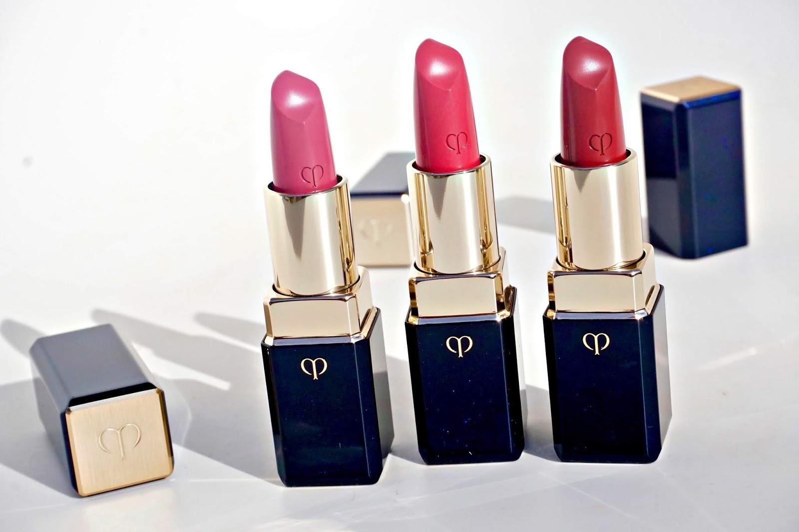 cle de peau petal delight rosewater cherry berry lipstick swatches