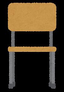木の椅子のイラスト(前)