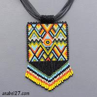 купить украшения из бисера африка этника яркие цвета Anabel