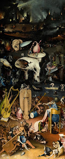 the garden of earthly delights right panel-dunyevi zevkler bahcesi sag panel
