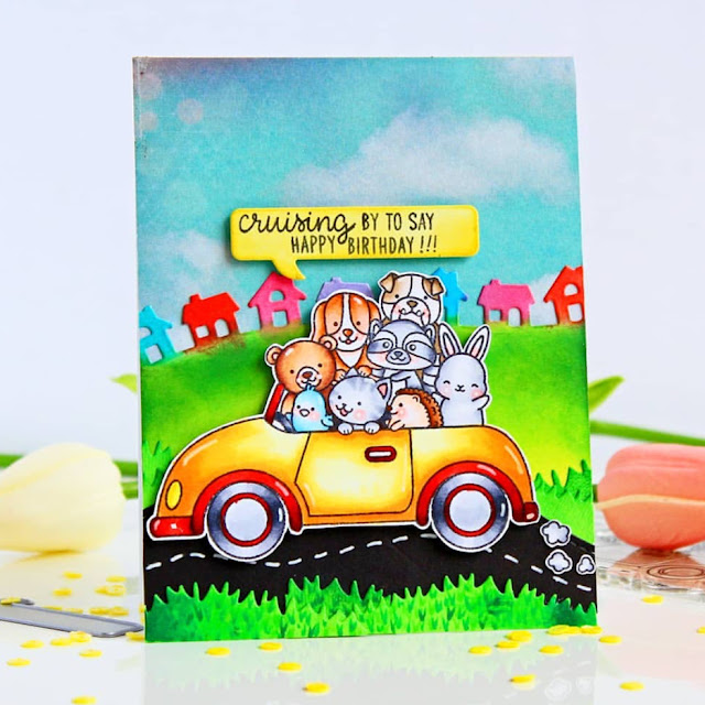 Sunny Studio Stamps: Cruising Critters Customer Card by Chitra