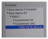 Sony Xperia XZ firmware