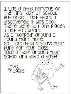 1st Grade Hip Hip Hooray!: First Day Froggy Theme!