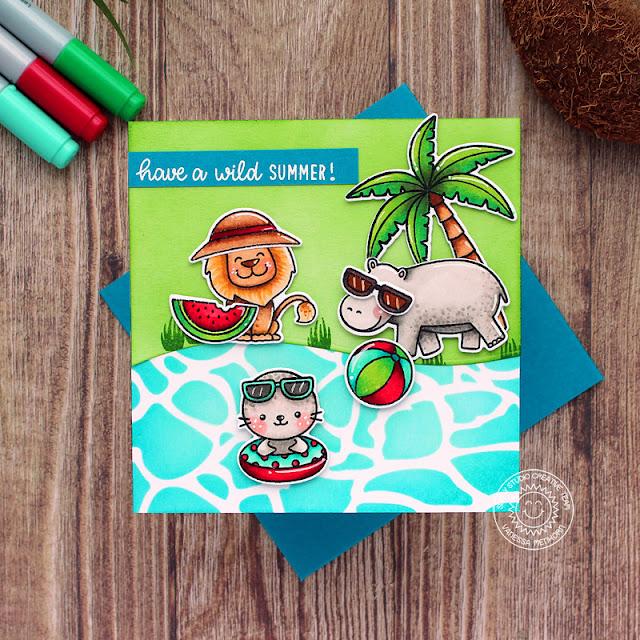 Sunny Studio Stamps: Savanna Safari Sealiously Sweet Summer Card by Vanessa Menhorn
