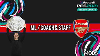 PES 2021 ML Coach & Staff Arsenal by Kunpup