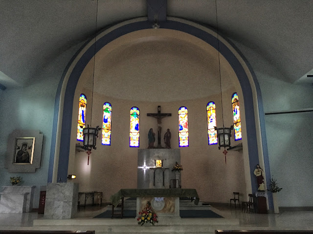 the altar at Our Lady of Sorrows in Penang, Malaysia