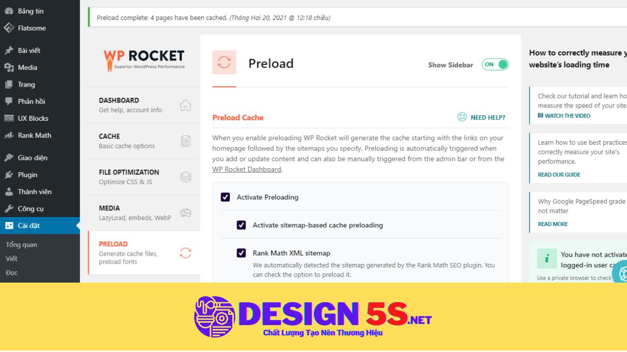 Plugin Wp Rocket Pro, Tối Ưu Tốc Độ Wordpress - Ảnh 2