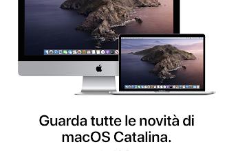 Disponibile per tutti gli utenti Apple il nuovo sistema operativo MacOS CATALINA!