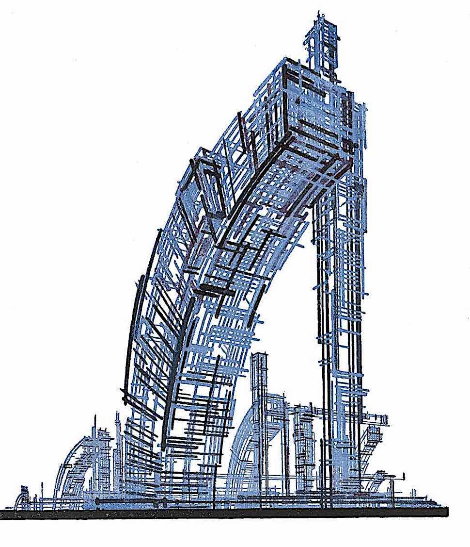 Iakov Chernikhov blue constructivism