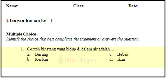 Tampilan Bank Soal Exam View
