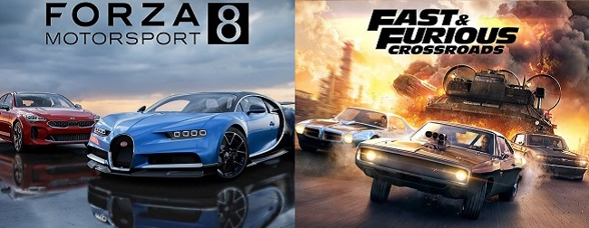 Comparison of Fast & Furious Crossroads vs Forza Motorsport 8