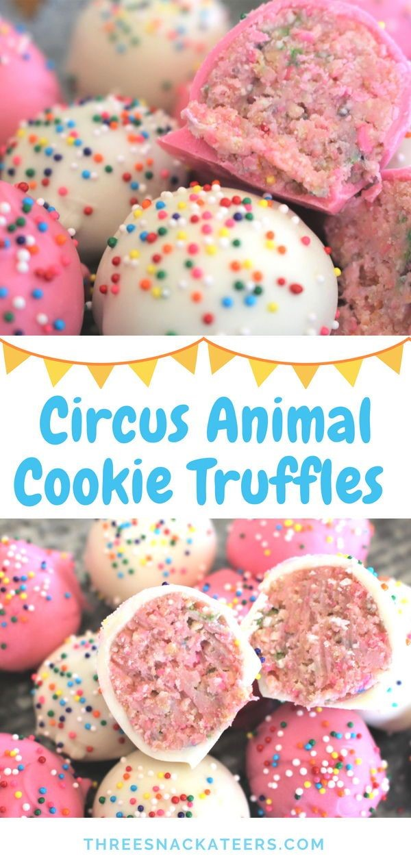 No-Bake Circus Animal Cookie Truffles